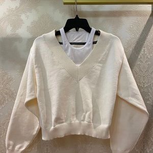 Alexander wang sweater XS two in one brand new